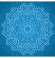 Ornamental round blue lace pattern 1 vector image vector image
