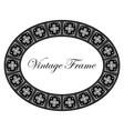 oval ornamental art deco frame vector image vector image