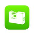 padlock icon green vector image vector image