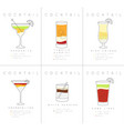 poster cocktails margarita vector image