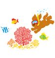 Puppy diver vector image vector image