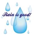 Rain drops image vector image vector image