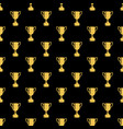 seamless awards pattern gold cups on a black vector image vector image