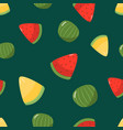 seamless pattern seasonal fruits watermelon vector image vector image