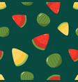 seamless pattern seasonal fruits watermelon vector image