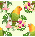 seamless texture parrot agapornis lovebird vector image vector image