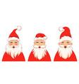 set funny santa claus characters christmas vector image vector image