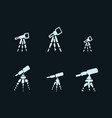 set of hand drawing telescope sketch telescope vector image vector image
