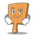 smirking kitchen board character cartoon vector image vector image