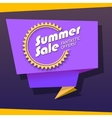 Summer sale origami banner vector image vector image
