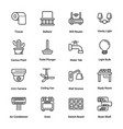 Sweet home outline icons
