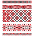 Ukrainian embroidery ornament vector image vector image