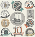 Vintage design elements and emblems vector image vector image