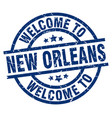 welcome to new orleans blue stamp vector image vector image