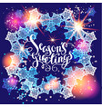 winter snow greetings vector image vector image