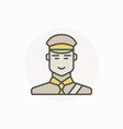 customs inspector or officer icon vector image