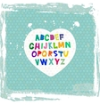 alphabet from A to Z on blue grunge background vector image