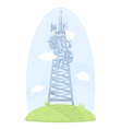 Cell tower with antennas vector image