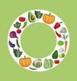 vegetables fresh ingredients diet vector image