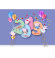 2019 happy new year design card with pigs vector image vector image