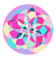abstract pattern in the form of a circle vector image vector image