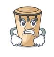 angry conga mascot cartoon style vector image vector image