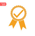 approved or certified medal icon orange color vector image vector image