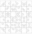 Background jigsaw puzzle vector image