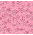 bicycles seamless pattern vector image vector image