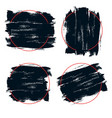 black paint ink brush stroke vector image vector image