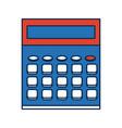 calculator school education electronic digital vector image vector image