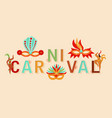 carnival banner rio festival with dancers vector image vector image