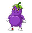 cartoon character an eggplant vector image