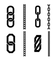 Chain parts icons and patterns vector image