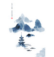chinese ink painted background with misty vector image vector image