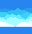 cloud background cartoon blue sky with white vector image