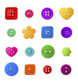 colorful sewing buttons flat vector image vector image