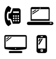 Communication icons set vector | Price: 1 Credit (USD $1)
