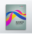 cover business book annual report colorful ribbon vector image vector image