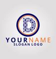 digital logo letter d vector image