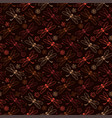 dragonfly pattern background with brown color vector image