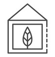eco leaf house icon outline style vector image vector image