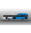 electric bus with two-color design vector image vector image