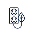 electrical outlet leaf ecology environment icon vector image