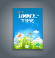 enjoy summer template vector image vector image