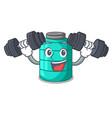 fitness cartoon big industrial water tank vector image