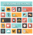 flat 25 business and marketing web icons set vector image vector image