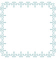 floral light blue frame vector image vector image