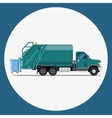 garbage truck flat modern design vector image