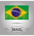 geometric polygonal Brazil flag vector image vector image